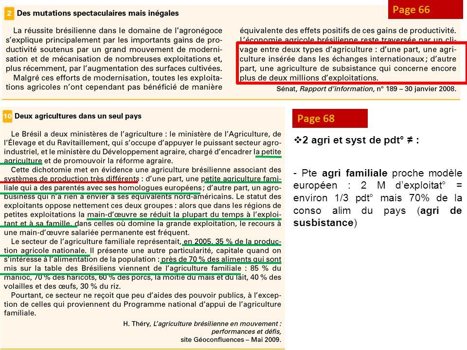 Page 66 Page 68 2 agri et syst de pdt° ≠ :