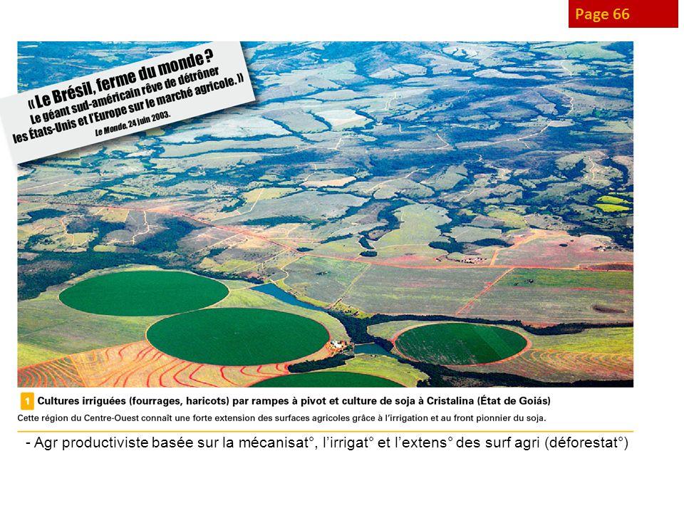 Page 66 - Agr productiviste basée sur la mécanisat°, l'irrigat° et l'extens° des surf agri (déforestat°)