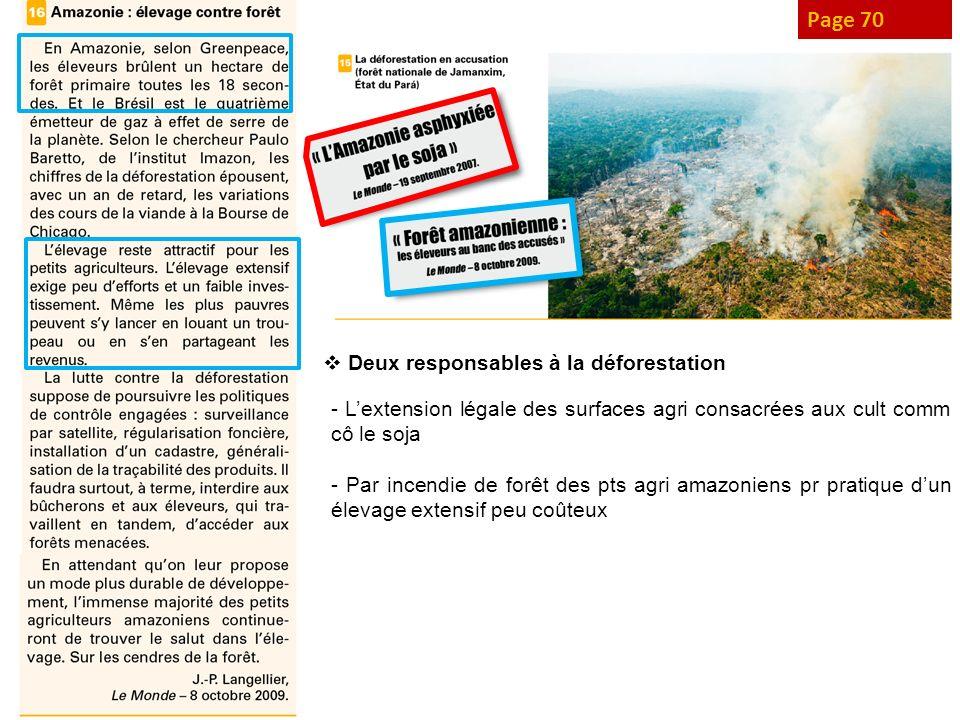 Page 70 Deux responsables à la déforestation