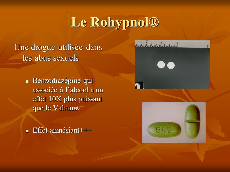 Le Rohypnol® Une drogue utilisée dans les abus sexuels