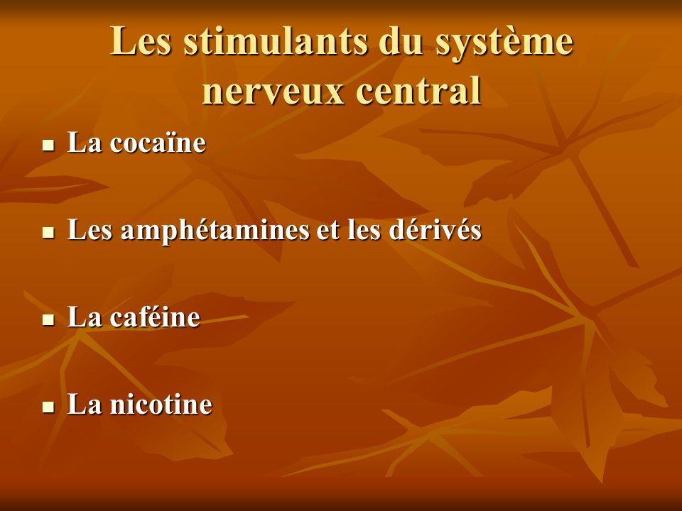 Les stimulants du système nerveux central