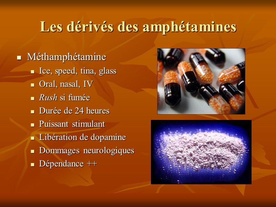 Les dérivés des amphétamines