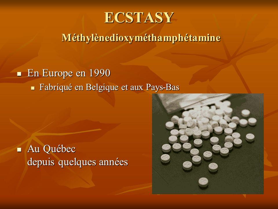 ECSTASY Méthylènedioxyméthamphétamine