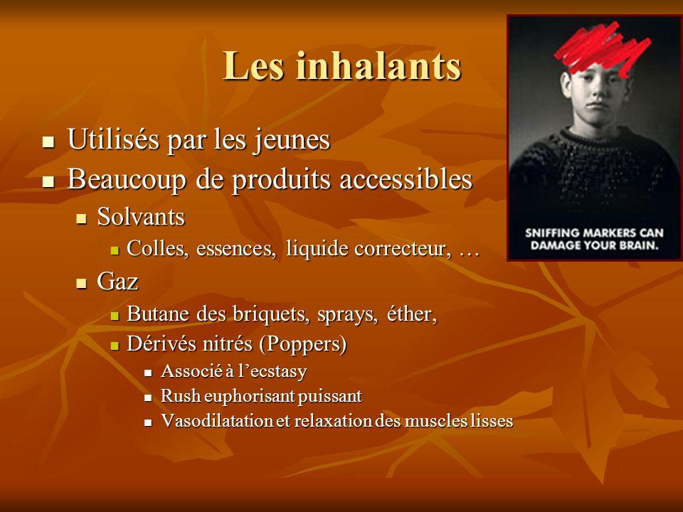 Les inhalants Utilisés par les jeunes Beaucoup de produits accessibles