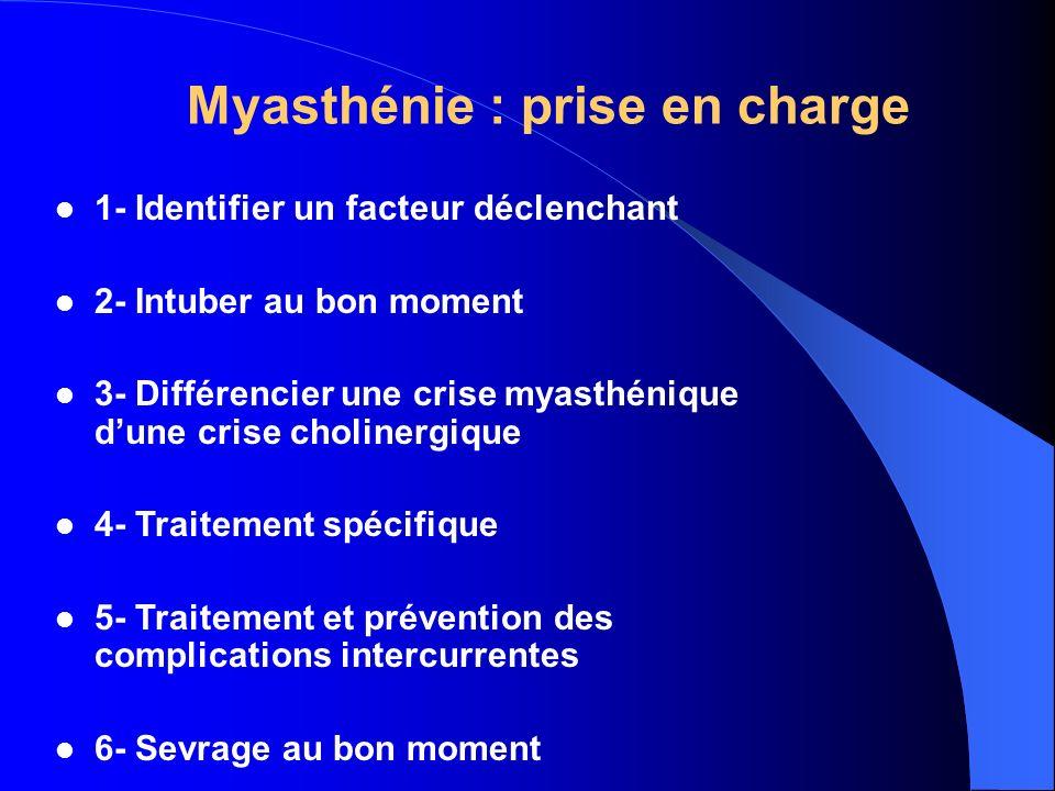 Myasthénie : prise en charge
