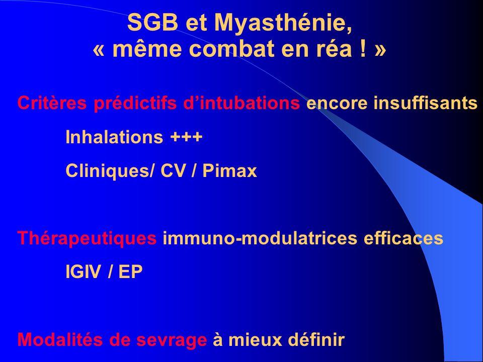 SGB et Myasthénie, « même combat en réa ! »
