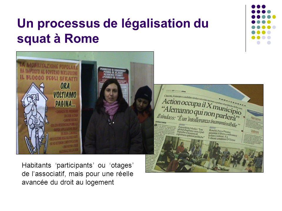 Un processus de légalisation du squat à Rome