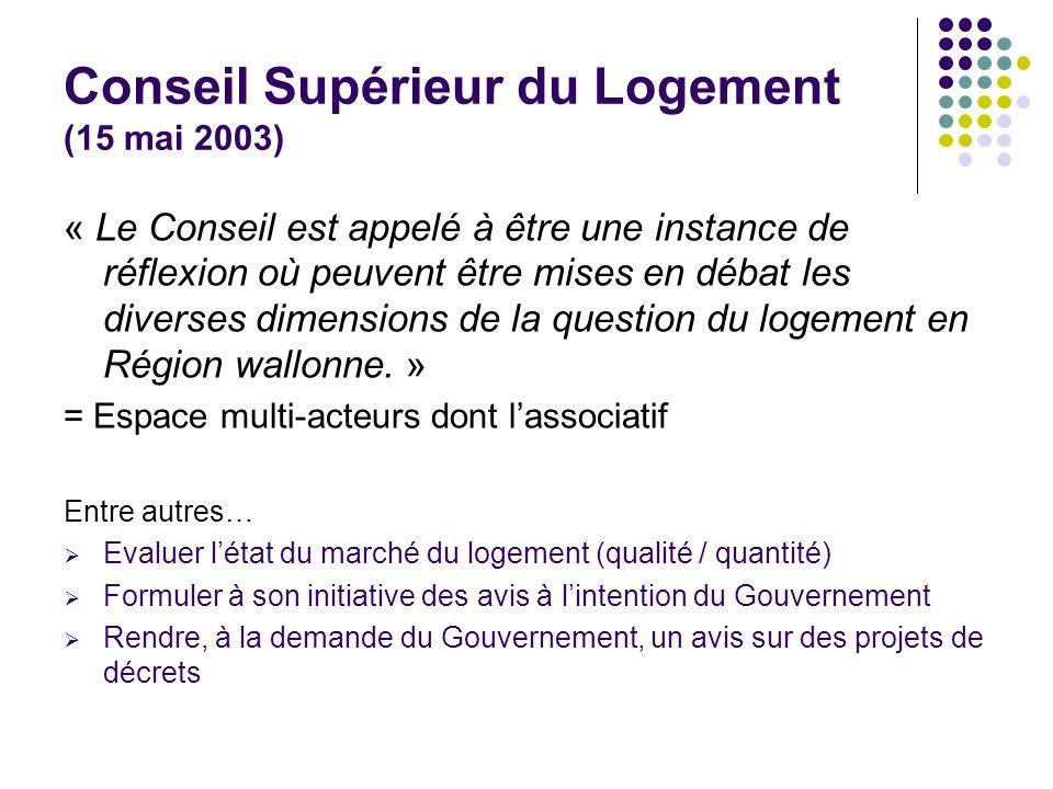 Conseil Supérieur du Logement (15 mai 2003)
