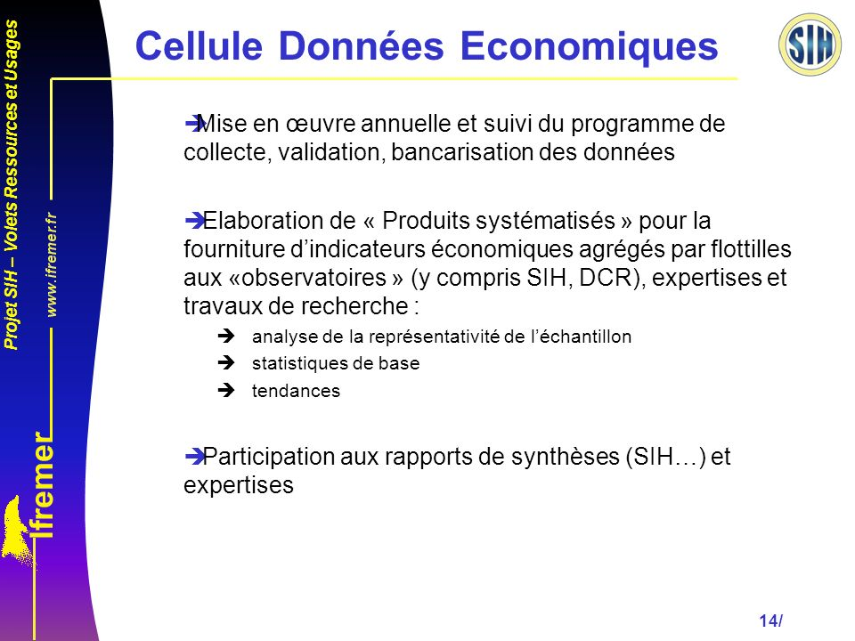 Cellule Données Economiques