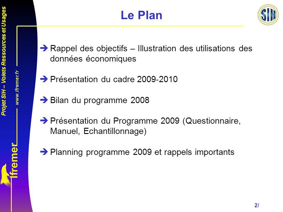 Le Plan Rappel des objectifs – Illustration des utilisations des données économiques. Présentation du cadre 2009-2010.