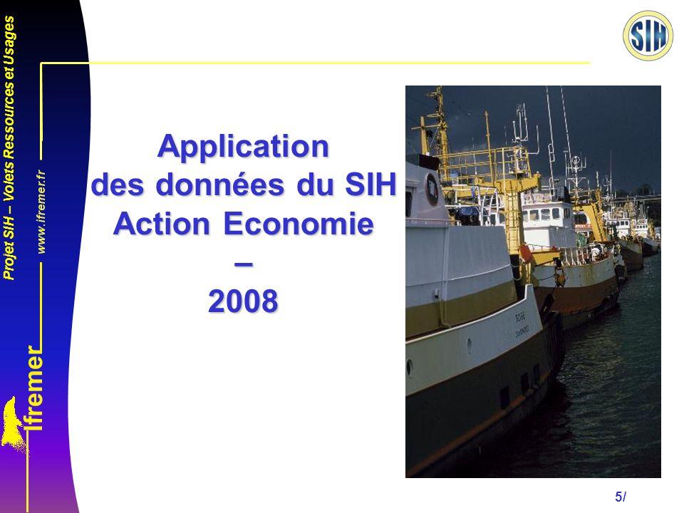 Application des données du SIH Action Economie – 2008
