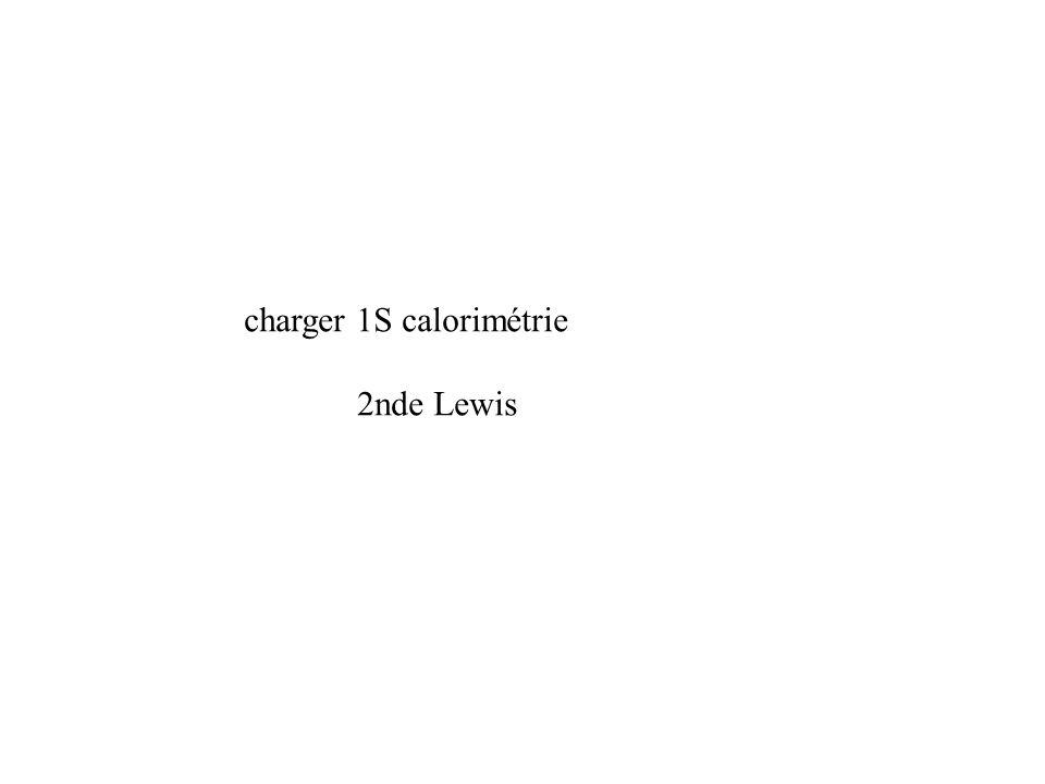 charger 1S calorimétrie