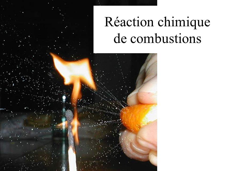 Réaction chimique de combustions