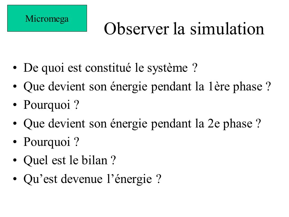Observer la simulation