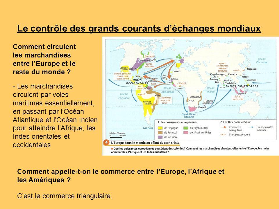 Le contrôle des grands courants d'échanges mondiaux