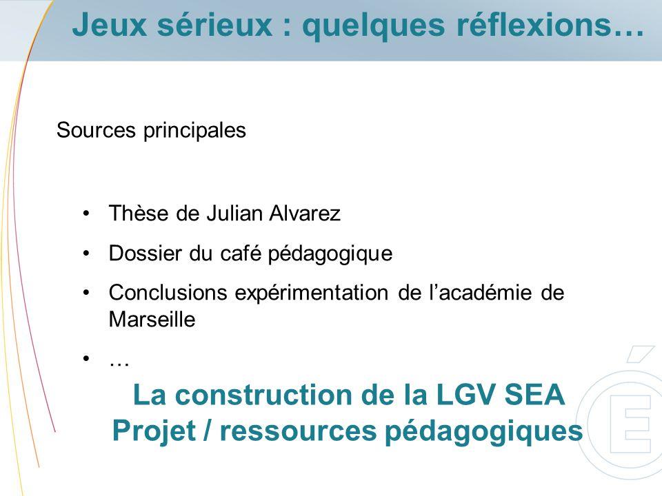 La construction de la LGV SEA Projet / ressources pédagogiques