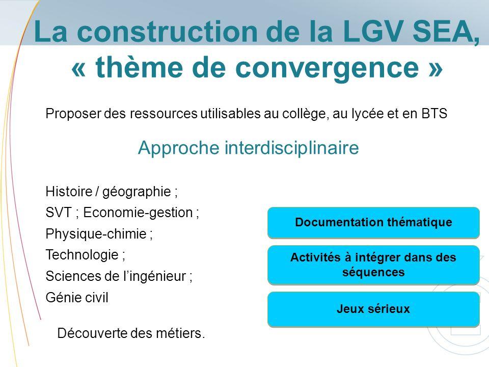 La construction de la LGV SEA, « thème de convergence »
