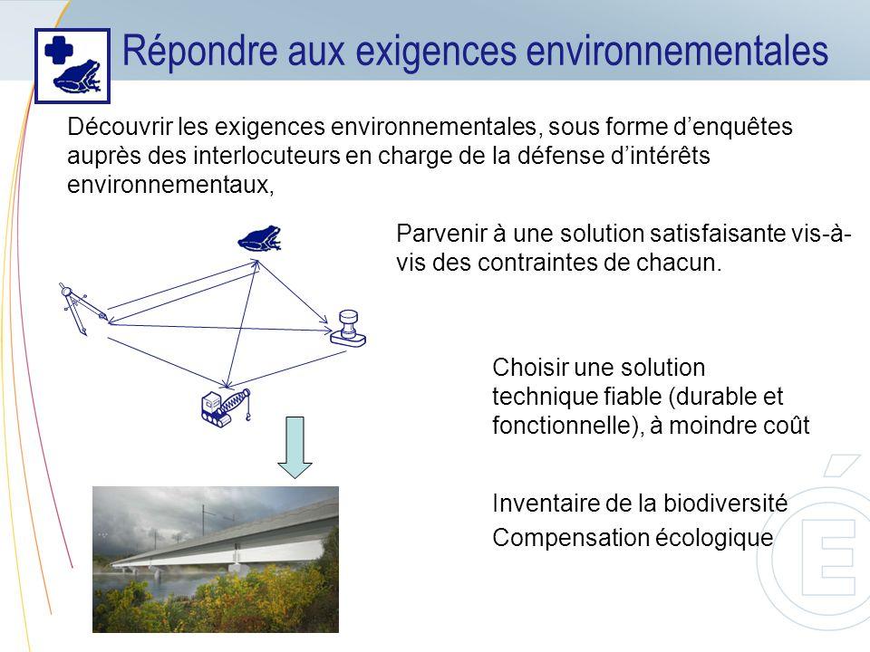 Répondre aux exigences environnementales