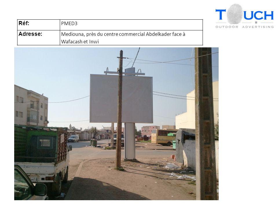 Réf: PMED3 Adresse: Mediouna, près du centre commercial Abdelkader face à Wafacash et Inwi