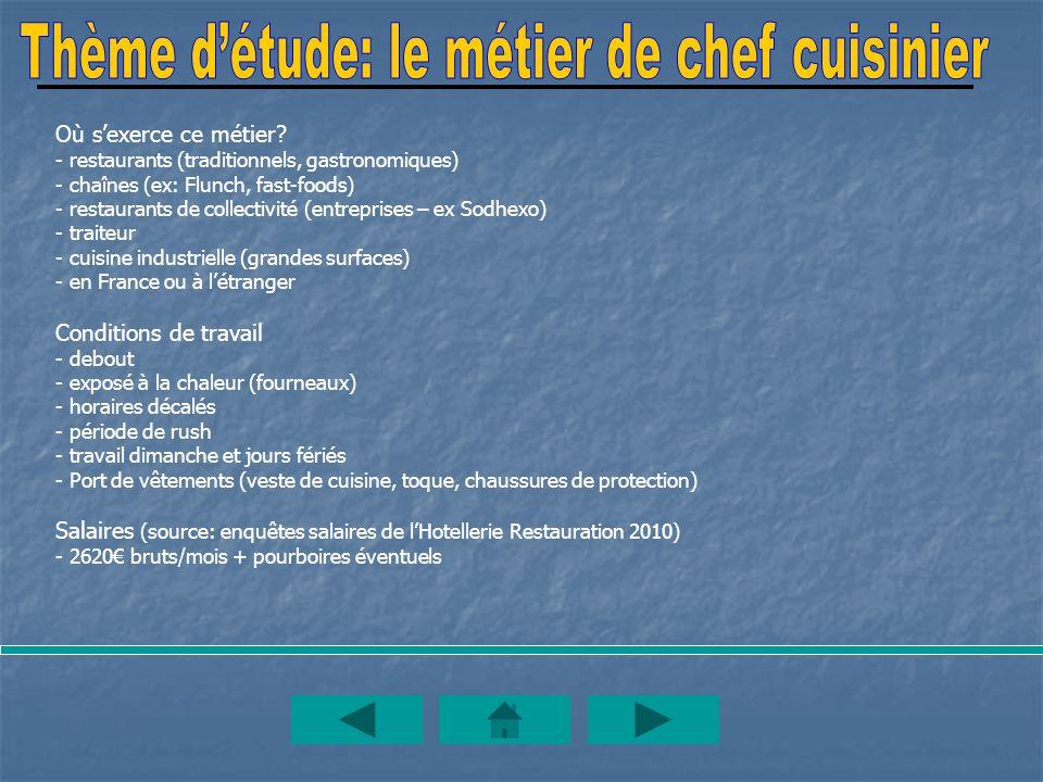 Entreprise restaurant le chalet ppt t l charger for Cuisinier 2010