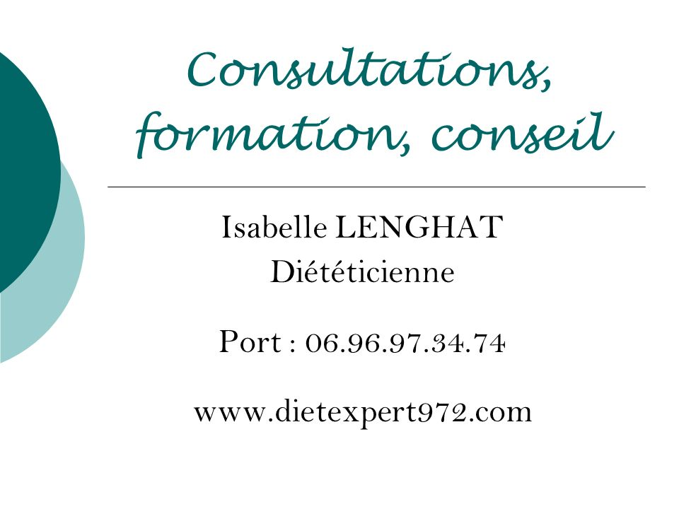 Consultations, formation, conseil
