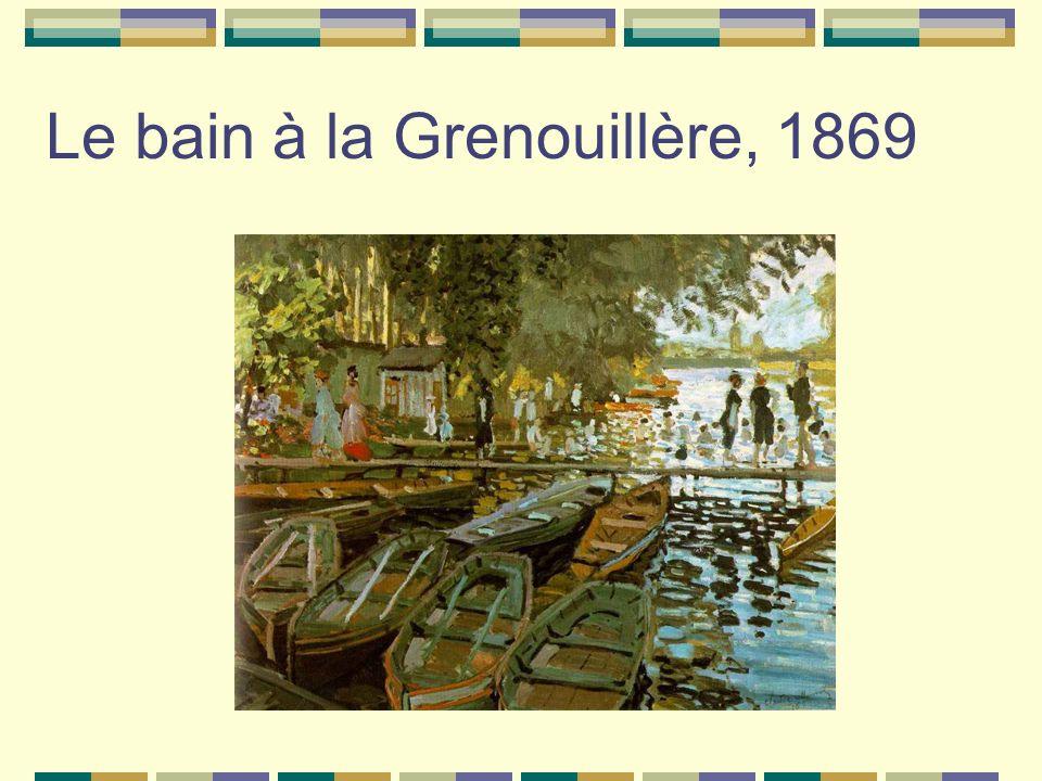 Le bain à la Grenouillère, 1869