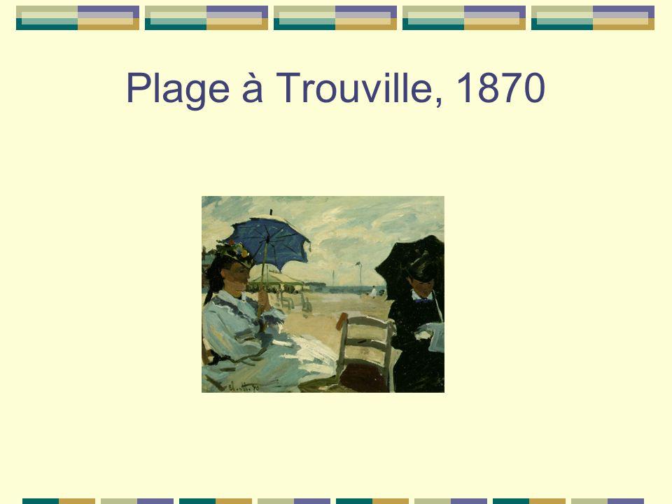 Plage à Trouville, 1870