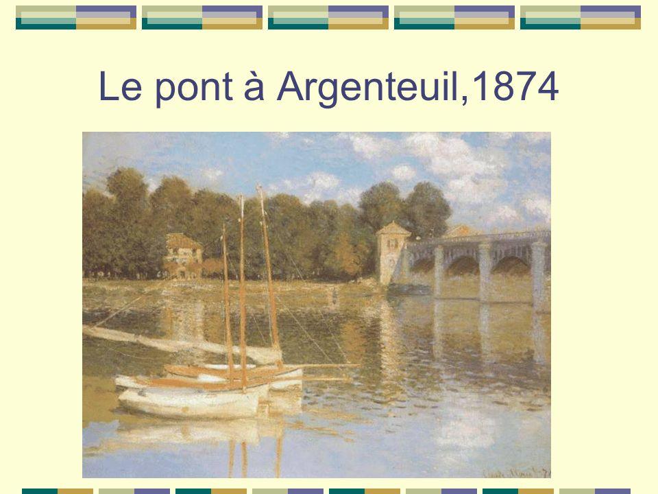 Le pont à Argenteuil,1874