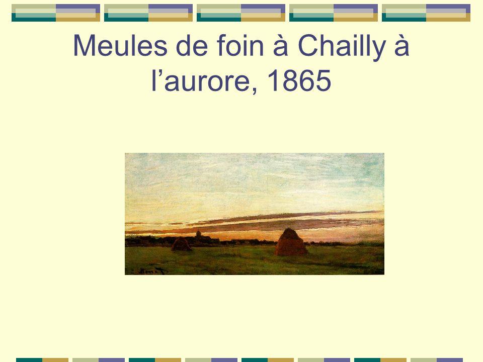 Meules de foin à Chailly à l'aurore, 1865