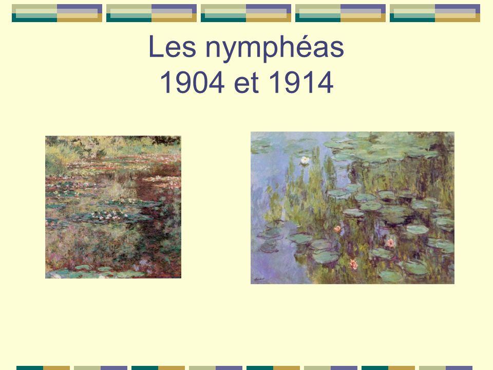 Les nymphéas 1904 et 1914