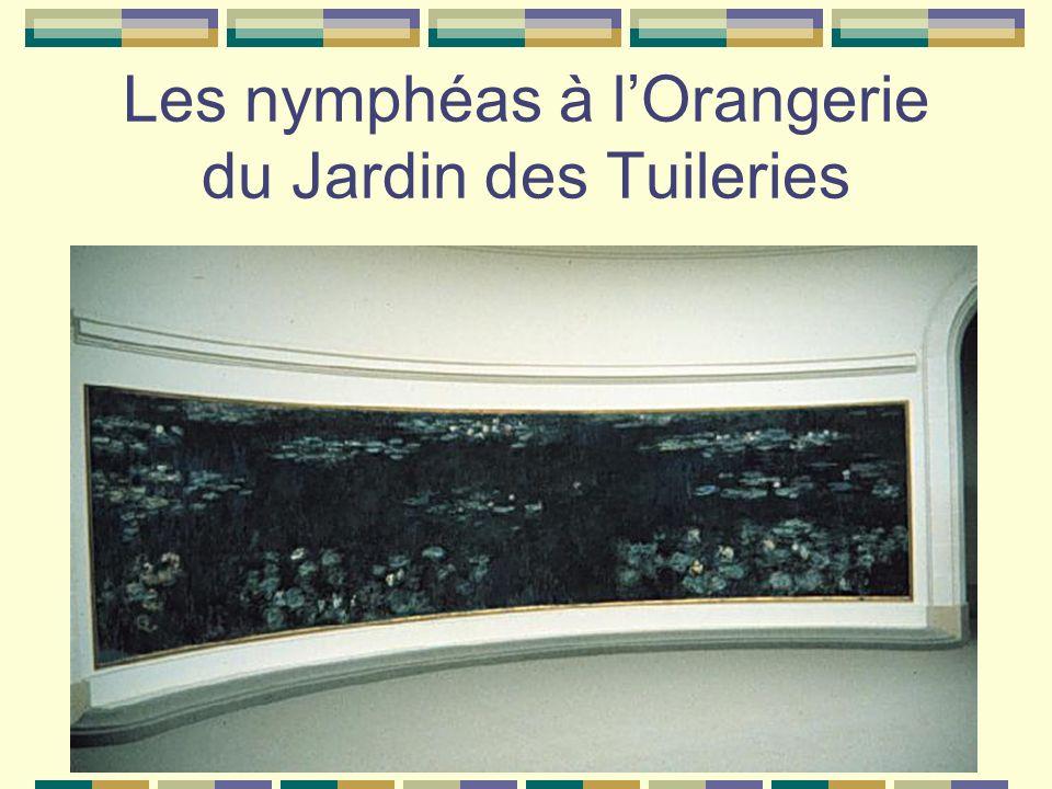 Les nymphéas à l'Orangerie du Jardin des Tuileries