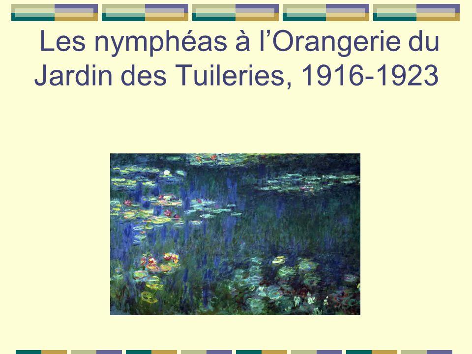 Les nymphéas à l'Orangerie du Jardin des Tuileries, 1916-1923