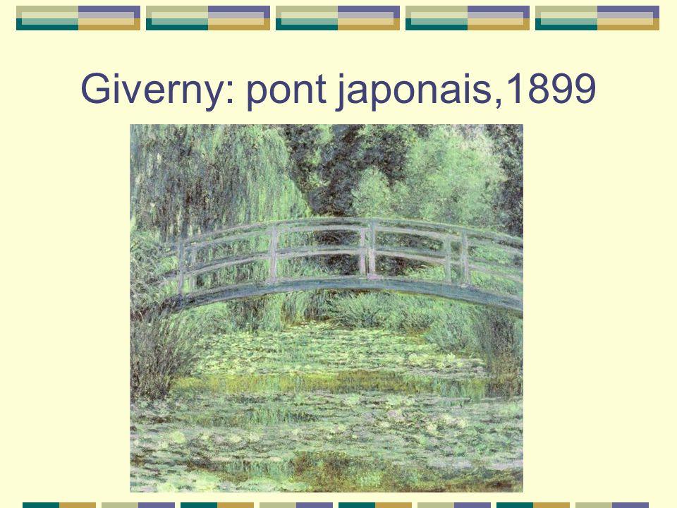 Giverny: pont japonais,1899