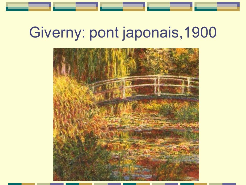Giverny: pont japonais,1900