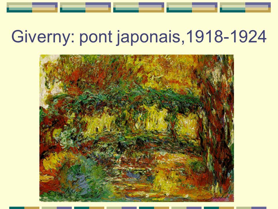 Giverny: pont japonais,1918-1924