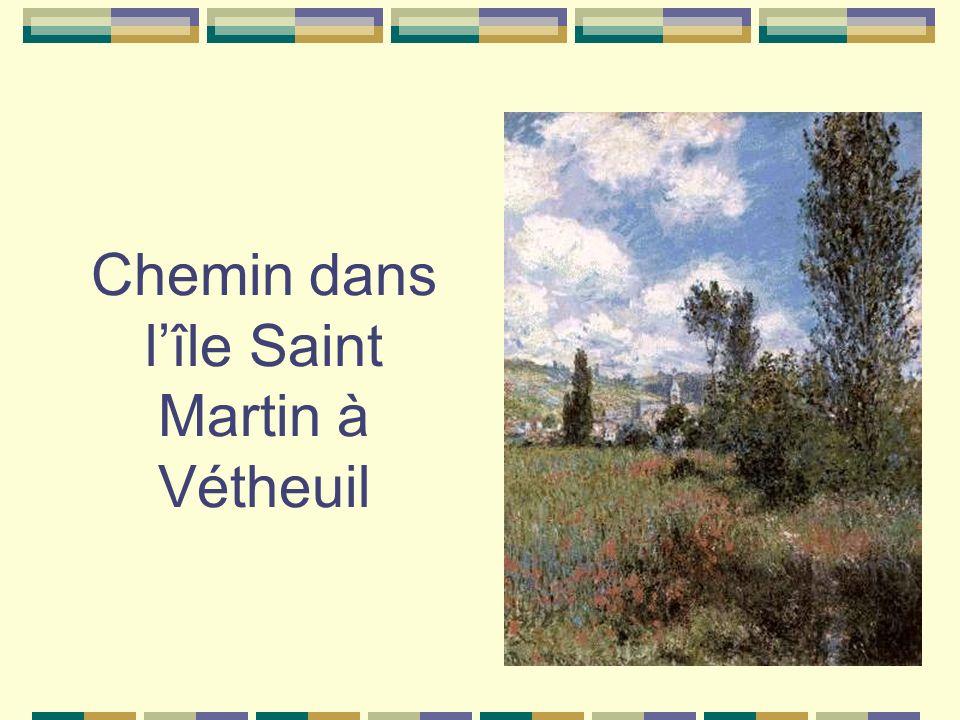 Chemin dans l'île Saint Martin à Vétheuil