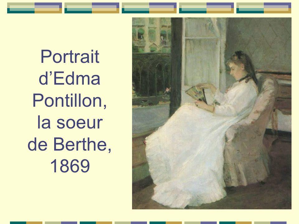 Portrait d'Edma Pontillon, la soeur de Berthe, 1869
