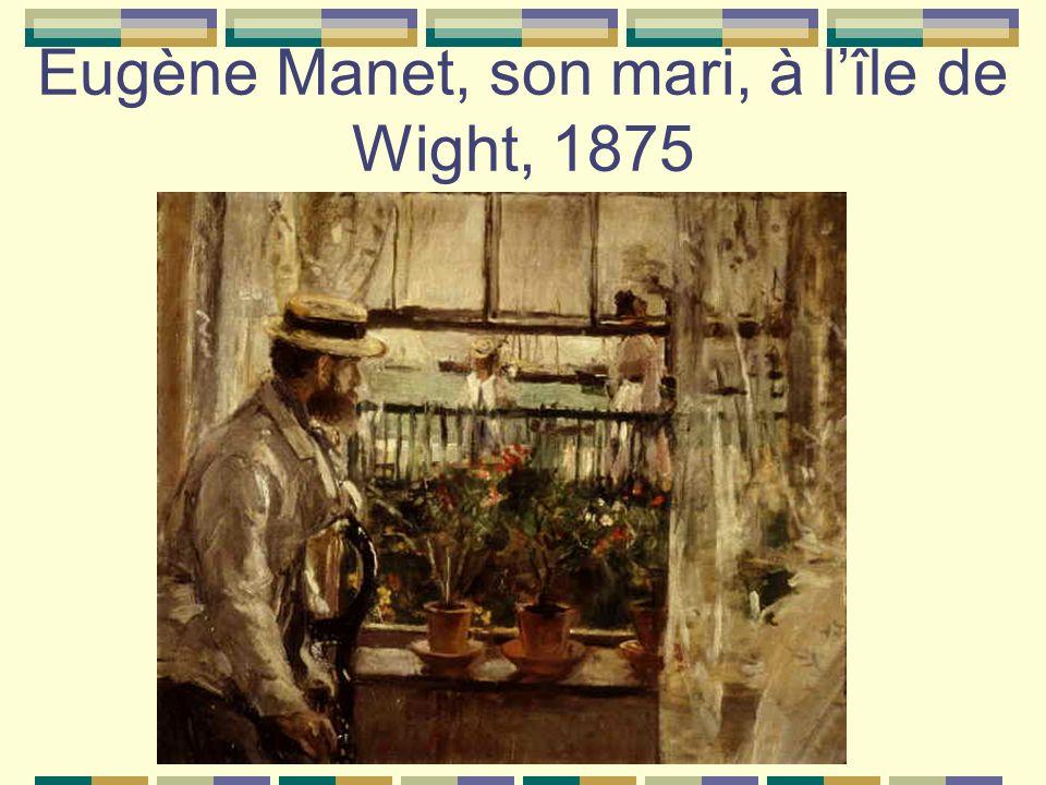 Eugène Manet, son mari, à l'île de Wight, 1875