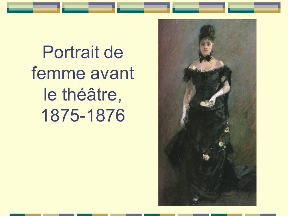 Portrait de femme avant le théâtre, 1875-1876