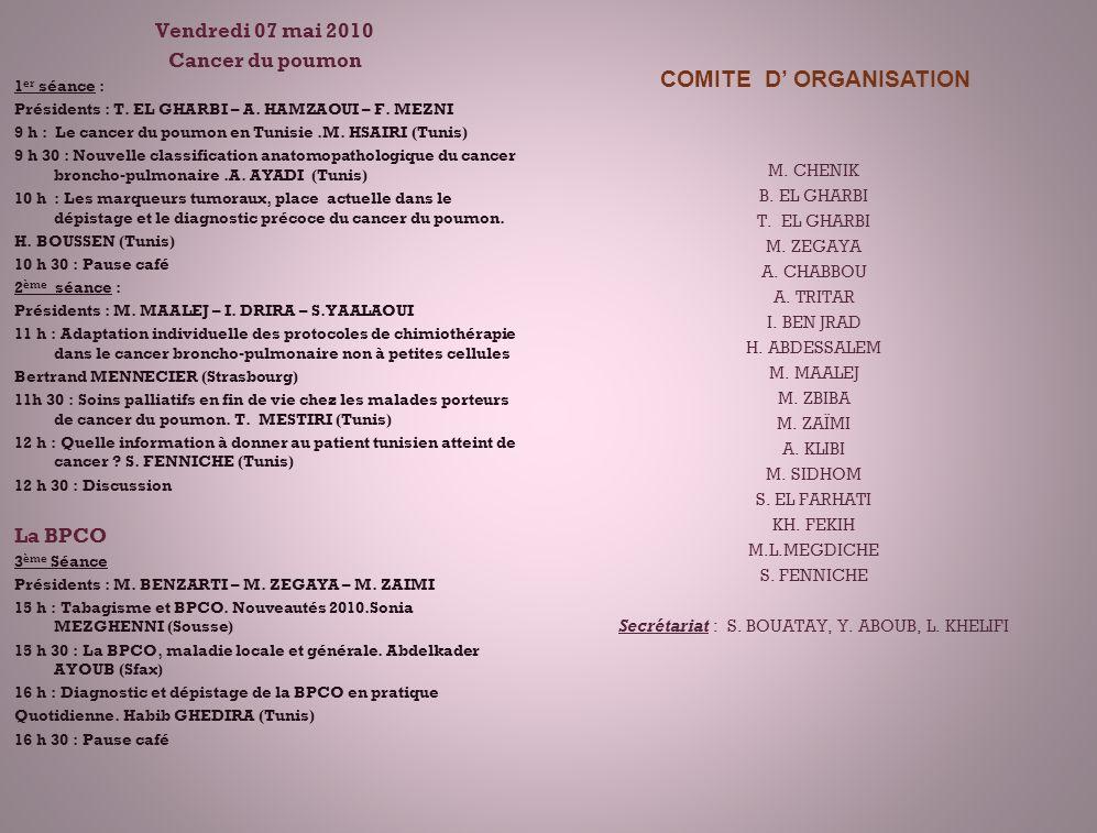 COMITE D' ORGANISATION