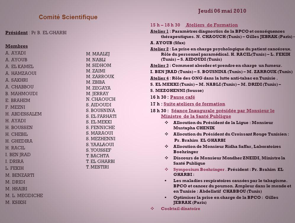 Comité Scientifique Jeudi 06 mai 2010