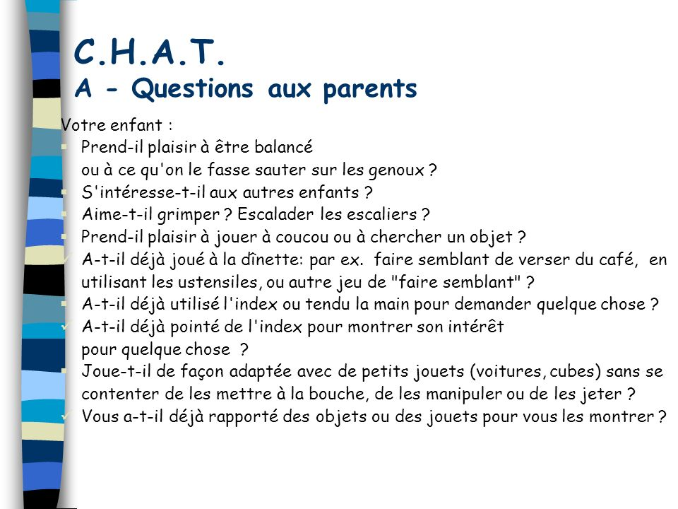 C.H.A.T. A - Questions aux parents
