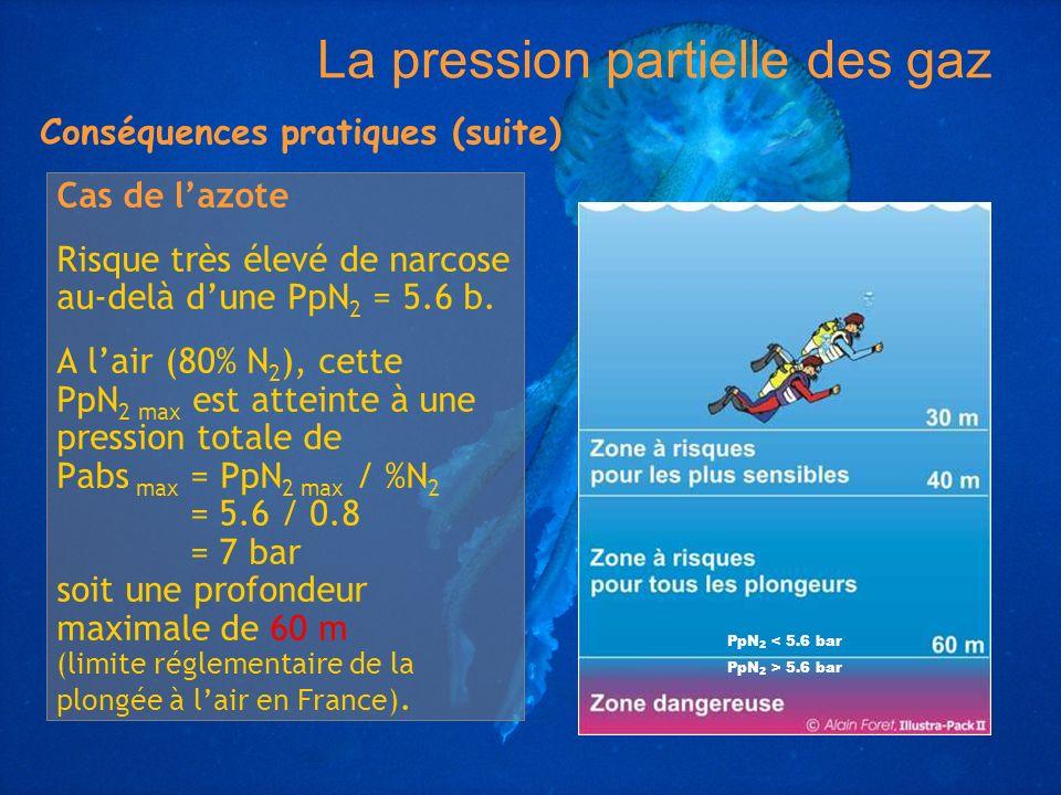 La pression partielle des gaz