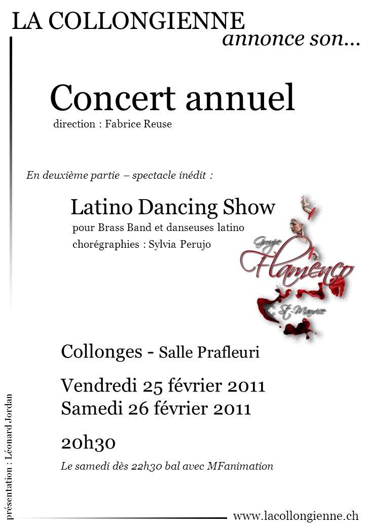 Concert annuel LA COLLONGIENNE annonce son… Latino Dancing Show