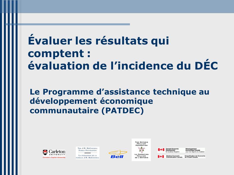 Présentateurs David Driscoll Président, comité consultatif du PATDEC