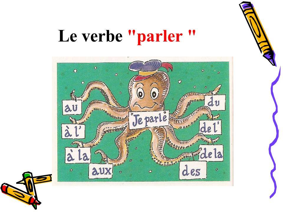 Le verbe parler