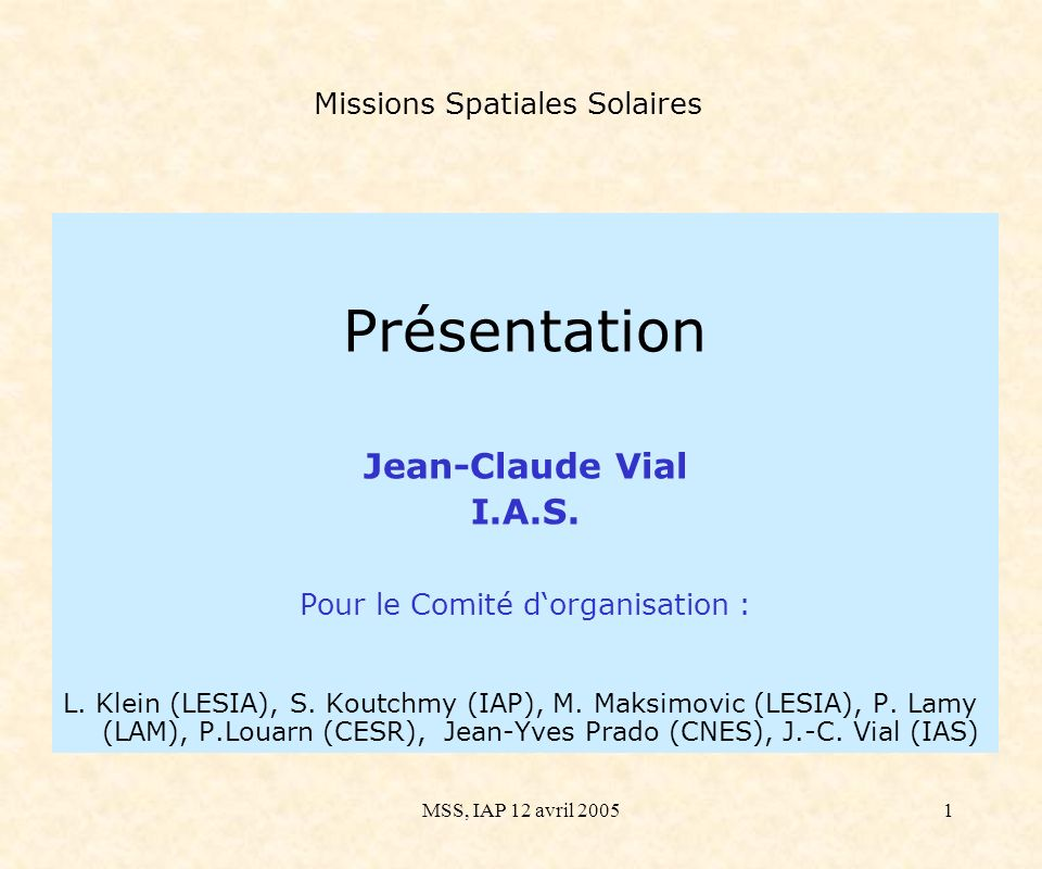 Missions Spatiales Solaires