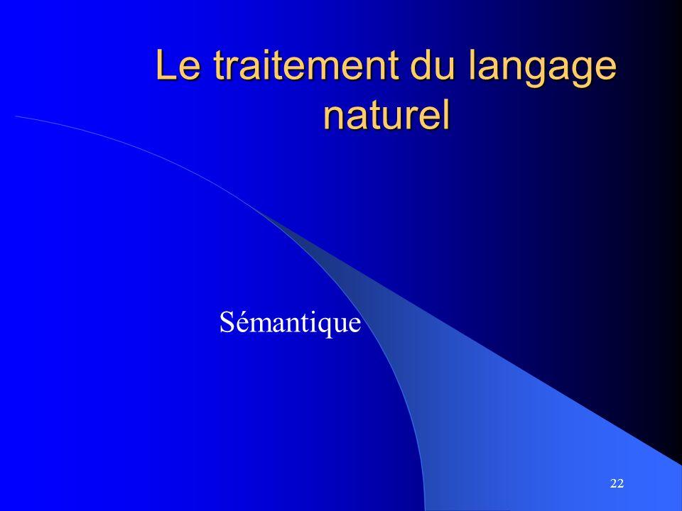 Le traitement du langage naturel