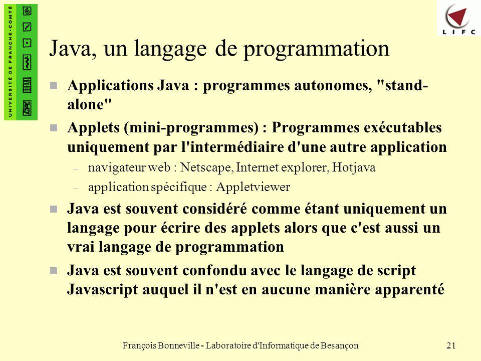 Java, un langage de programmation