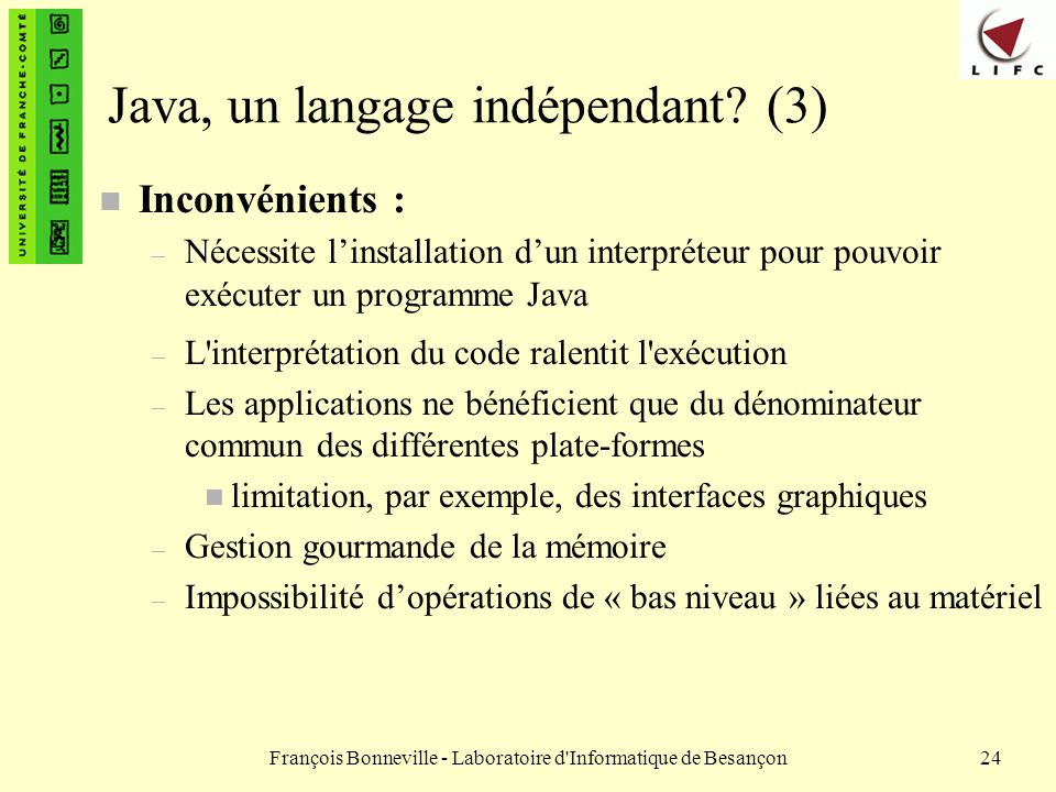 Java, un langage indépendant (3)